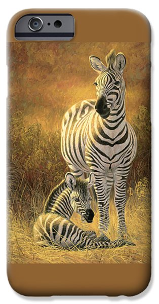 Zebra iPhone Cases - A New Day iPhone Case by Lucie Bilodeau