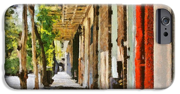 Balcony iPhone Cases - A New Orleans Alley iPhone Case by Christine Till