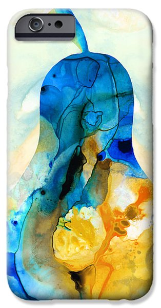 Pear iPhone Cases - A Nice Pear - Abstract Art By Sharon Cummings iPhone Case by Sharon Cummings