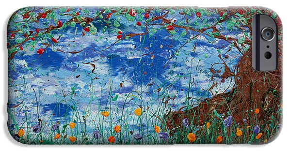 Fruit Tree Art Giclee iPhone Cases - A Nice Place for a Nap iPhone Case by Ric Bascobert