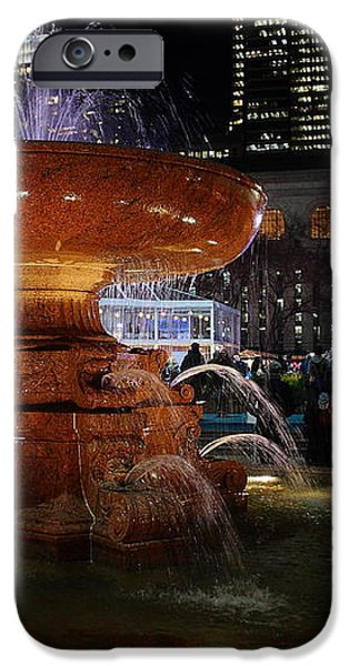 A Night in Bryant Park iPhone Case by Nicholas Santasier