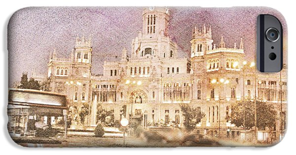 Palatial iPhone Cases - A Night In Madrid  iPhone Case by Connie Handscomb