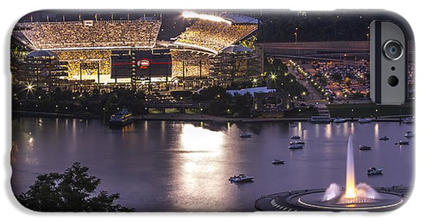 Allegheny iPhone Cases - A Night on the Rivers iPhone Case by Jennifer Grover
