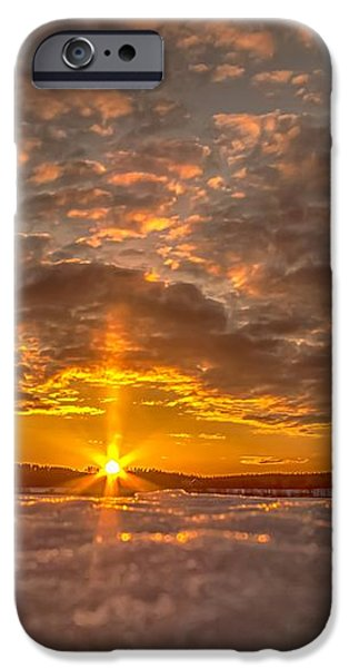 A Norwegian sunset iPhone Case by Rose-Maries Pictures