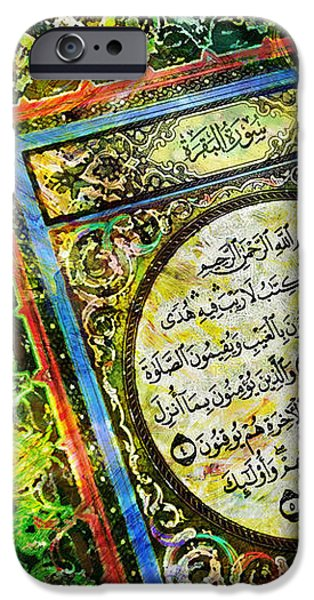 A page from Quran iPhone Case by Catf