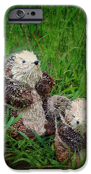 Beaver Digital iPhone Cases - A Pair of Happy Wanderers iPhone Case by Carla Parris