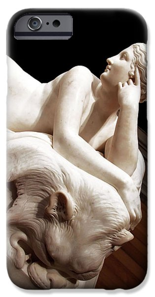 Cora Wandel iPhone Cases - Canova -- A Partial Naiad iPhone Case by Cora Wandel