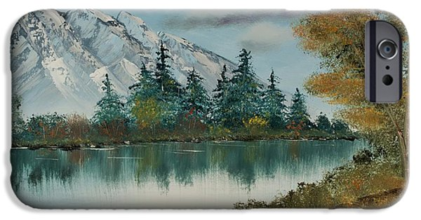 Bob Ross Paintings iPhone Cases - A Path by the River iPhone Case by Shannon Wells