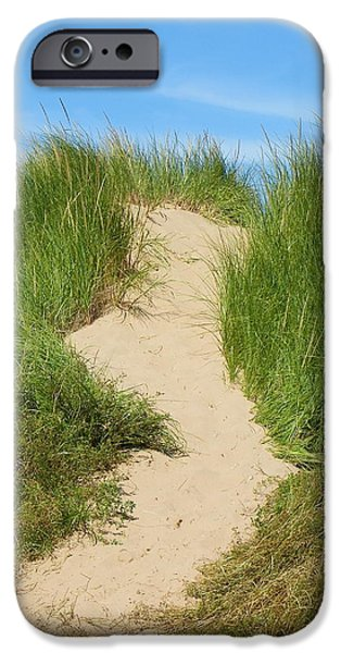 North Rustico iPhone Cases - A Path on the Dunes iPhone Case by Georgia Hamlin