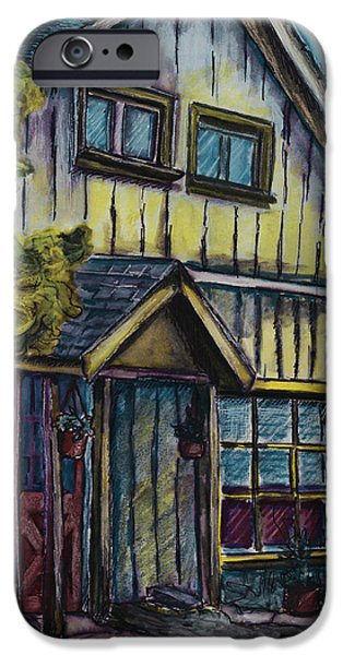 Overhang iPhone Cases - A Path to My House iPhone Case by Jo-Anne Gazo-McKim