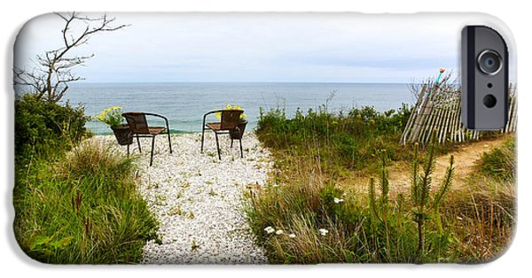 Michelle iPhone Cases - A Peaceful Respite by the Shore iPhone Case by Michelle Wiarda