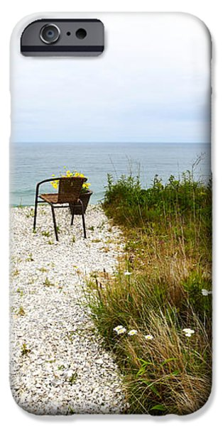 A Peaceful Respite by the Shore iPhone Case by Michelle Wiarda