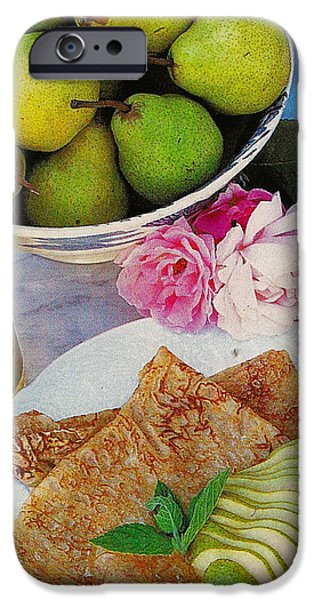 Michael Mixed Media iPhone Cases - A pear for your thoughts iPhone Case by M and L Creations