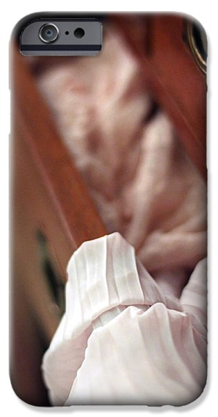 Intimacy Photographs iPhone Cases - A Peek Inside...  iPhone Case by Trish Mistric
