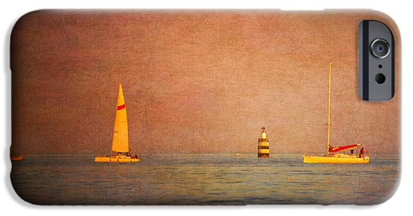 Sailing iPhone Cases - A Perfect Summer Evening iPhone Case by Loriental Photography