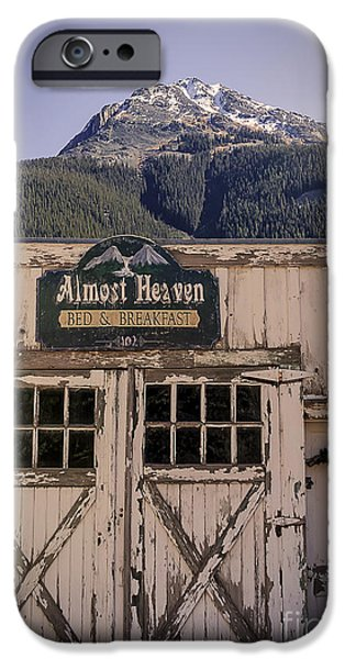 Cabin Window iPhone Cases - A Piece of Heaven iPhone Case by Janice Rae Pariza