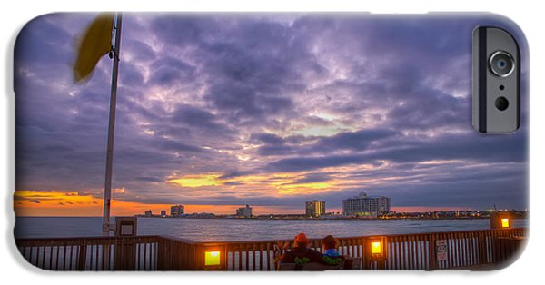 Florida iPhone Cases - A Pier with a View iPhone Case by Tim Stanley