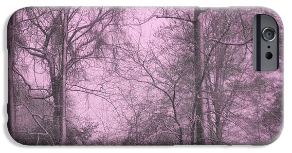 Snow iPhone Cases - A Pink Glance of Winter iPhone Case by Majula Warmoth