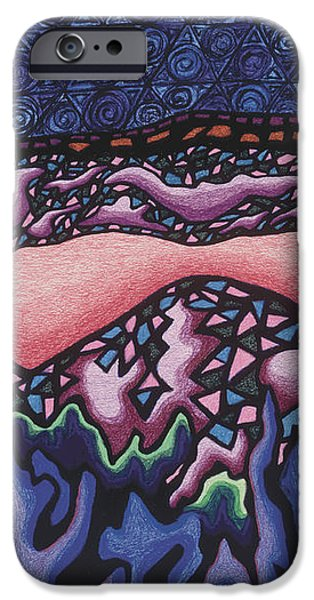 A pink line at night iPhone Case by Dale Beckman