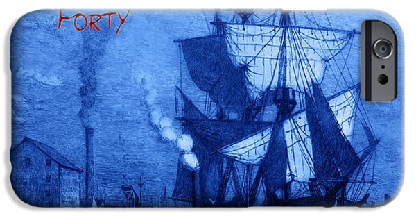 Pirate Ships iPhone Cases - A Pirate Looks At Forty iPhone Case by John Stephens