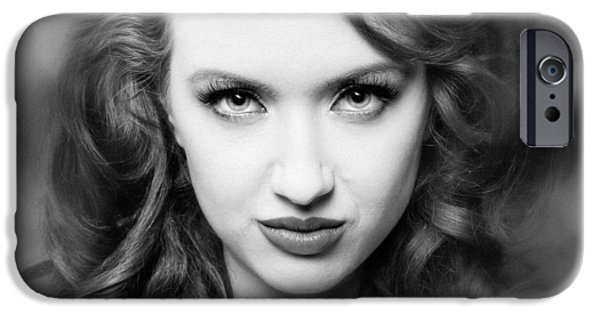 Character Portraits Photographs iPhone Cases - A place in time Jessamyn iPhone Case by Gary Heller