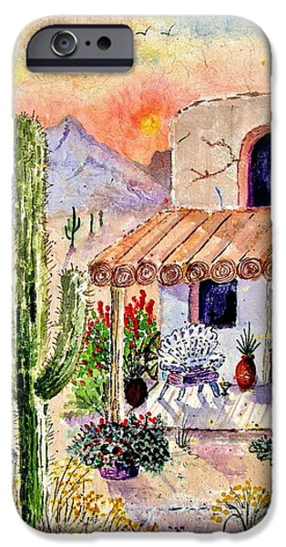 Marilyn Smith Paintings iPhone Cases - A Place Of My Own iPhone Case by Marilyn Smith