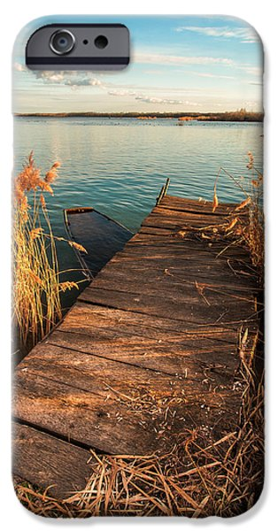 Boat iPhone Cases - A place where lovers meet iPhone Case by Davorin Mance