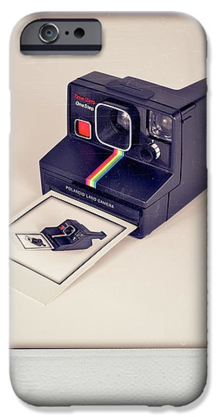 1981 iPhone Cases - A Polaroid of a Polaroid taking a Polaroid of a Polaroid taking a Polaroid of a Polaroid taking a .. iPhone Case by Mark Miller