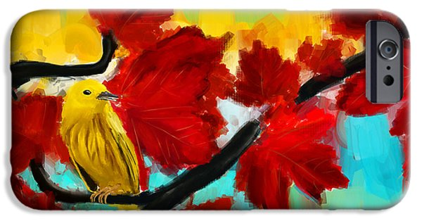 Warbler iPhone Cases - A Ponder iPhone Case by Lourry Legarde