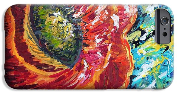 Business Paintings iPhone Cases - A Poppy Takes Center Stage iPhone Case by Eloise Schneider