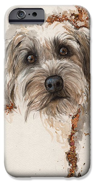 Fox Terrier iPhone Cases - A Portrait Of A Dog iPhone Case by Angel  Tarantella