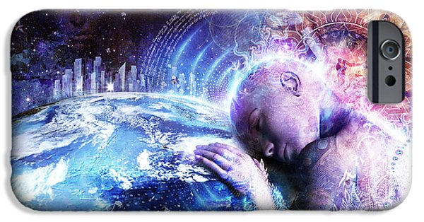 Cosmic iPhone Cases - A Prayer For The Earth iPhone Case by Cameron Gray
