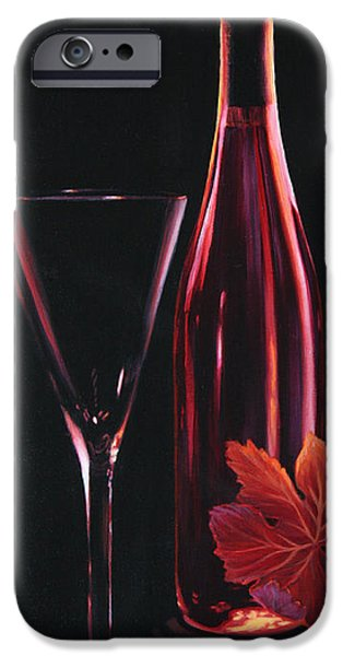 Wine Reflection Art iPhone Cases - A Prelude to Romance iPhone Case by Sandi Whetzel