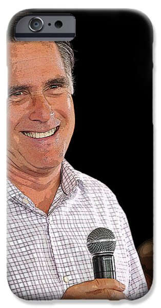 Mitt Romney iPhone Cases - A Presidential Rally iPhone Case by Janice Rae Pariza