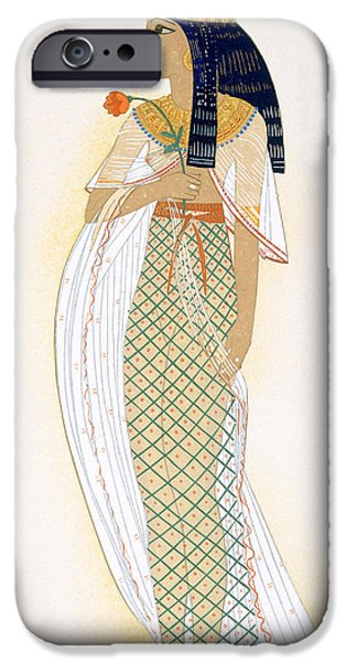 Cleopatra iPhone Cases - A Princess iPhone Case by Francois-Louis Schmied