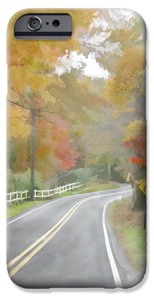 A Quiet Country Road iPhone Case by Bill Losey