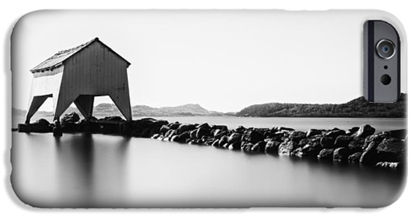 Creek iPhone Cases - A quiet day at Hafrsfjord iPhone Case by Erik Brede