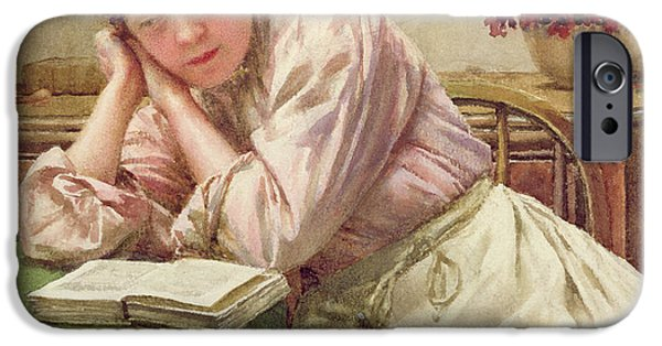 Furniture iPhone Cases - A Quiet Read iPhone Case by Walter Langley