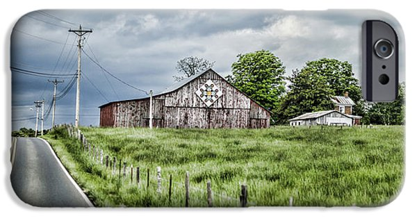 Tn Barn iPhone Cases - A Quilted Barn iPhone Case by Heather Applegate