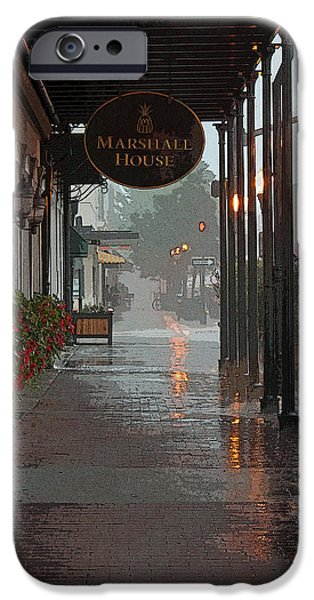 Rainy Day iPhone Cases - A Rainy Day in Georgia II iPhone Case by Suzanne Gaff