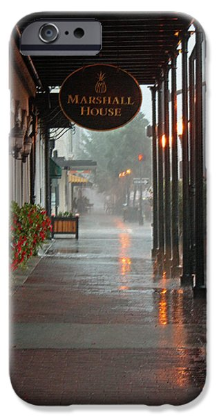 Rainy Day iPhone Cases - A Rainy Day in Georgia - Pastel iPhone Case by Suzanne Gaff