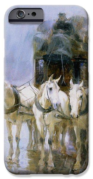 A Rainy Day In Paris iPhone Case by Ulpiano Checa y Sanz