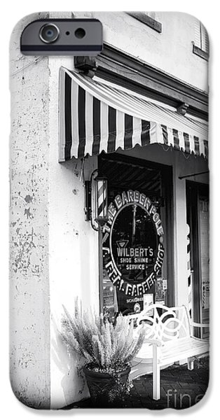 Chatham iPhone Cases - A Real Barber Shop iPhone Case by John Rizzuto