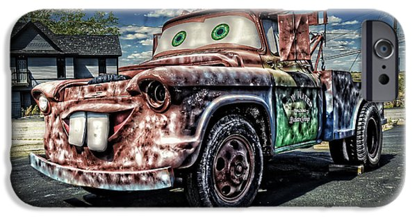 Tow Truck iPhone Cases - A Real Tow-Mater iPhone Case by Ken Smith