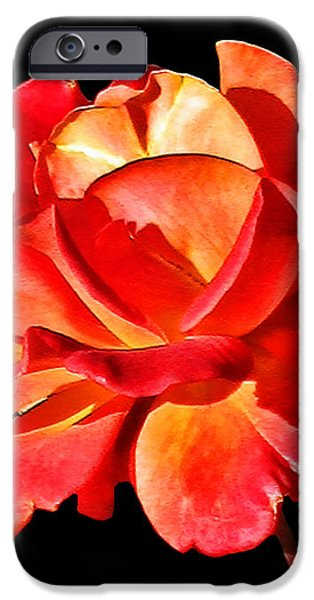 A Red Rose for You 2 iPhone Case by Mariola Bitner