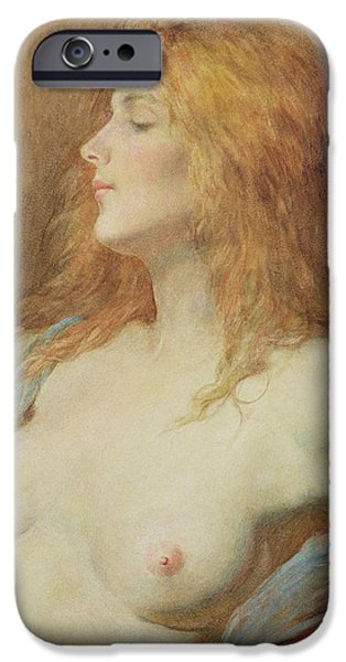 Red-haired Women iPhone Cases - A Redhead iPhone Case by John Edward Goodall