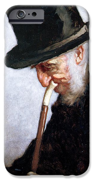 Thinking iPhone Cases - A Retired Sea Captain from Massachusetts iPhone Case by Eastman Johnson