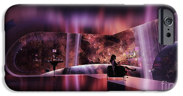 Recently Sold -  - Cyberspace iPhone Cases - A Rich Woman Looking At A Terrestrial iPhone Case by Brian Christensen