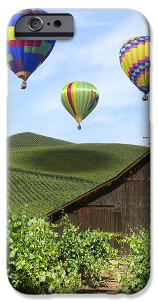 Vineyard Art iPhone Cases - A Ride Through Napa Valley iPhone Case by Mike McGlothlen