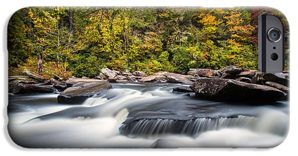 Beauty Photographs iPhone Cases - A River is Furious and Smooth iPhone Case by Andres Leon